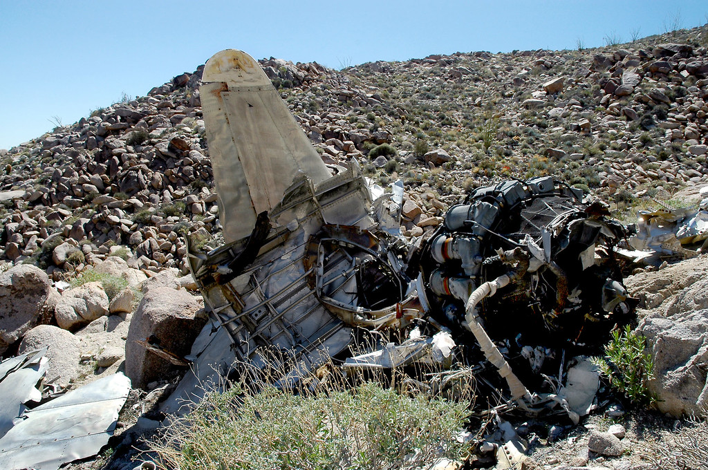 After getting closer look at the wreckage, I thought that this aircraft was a T-33.  The person who told me about this site after he spotted it from the air only said that it was a military jet.