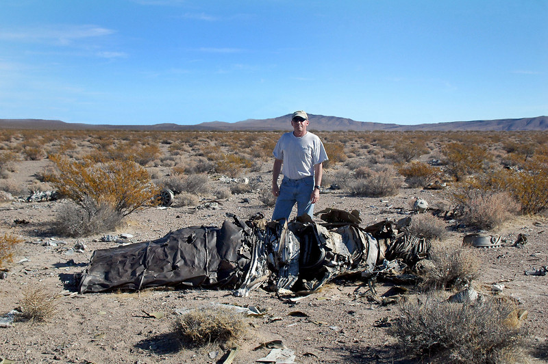 The engine was just outside of the impact crater.