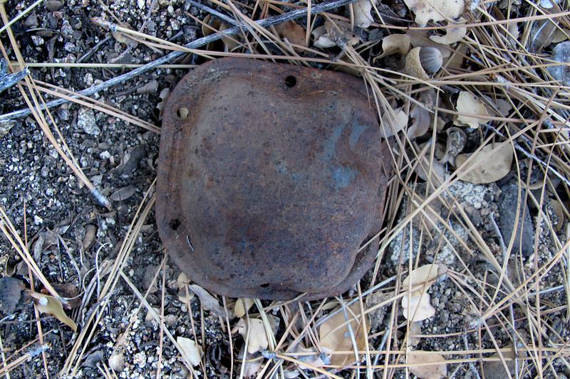 Valve cover from the Continental C145-2 engine. Finding this made wonder if the engine might still be at the site.