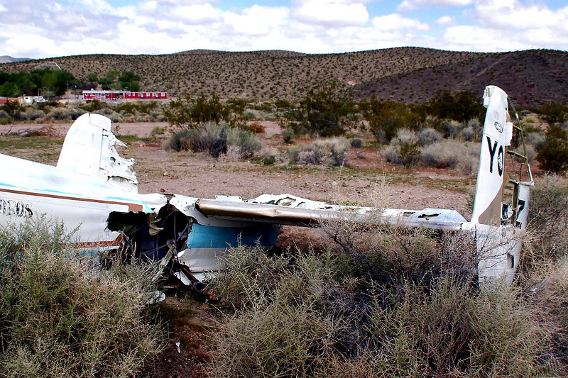 Damage on the rear of the fuselage.