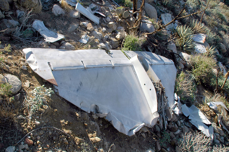 Soon as I saw the horizontal stabilizer I could tell that this was a A-4 Skyhawk. This is the bottom side of the stab.