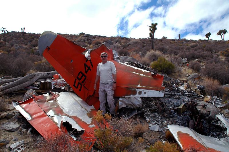 Me at the crash site.