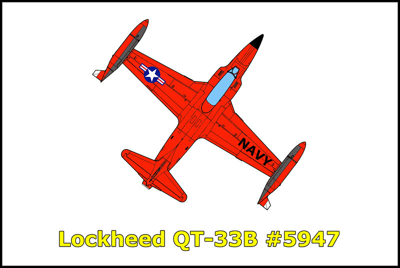 The Lockheed QT-33B #5947 was used as a Navy target drone at China Lake Naval Weapons Center. It went down in the 1970s in the mountains near the town of Trona, Ca.
