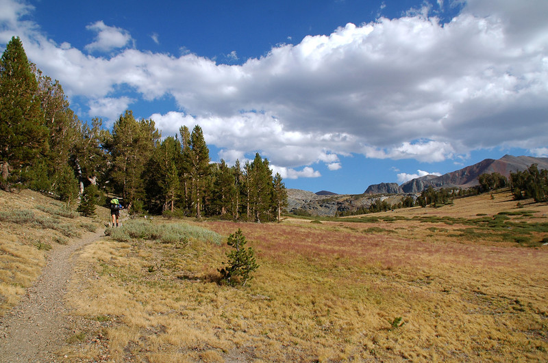 We are headed over the pass where we will set up camp for the next few days.