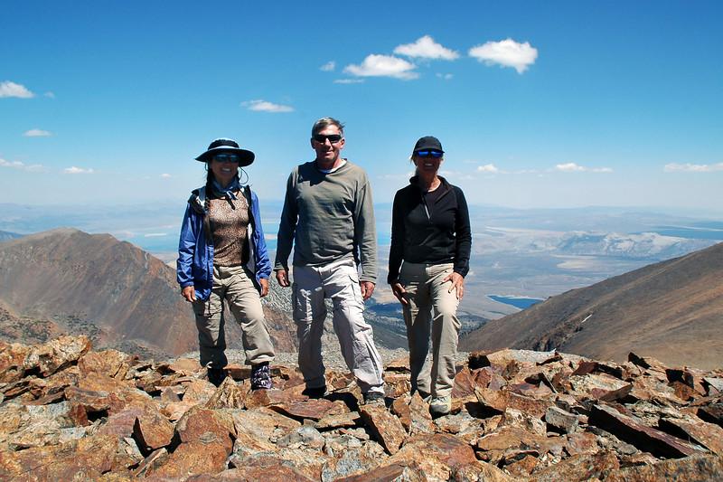Cori, me and Sooz on top of the 13,000 foot peak.