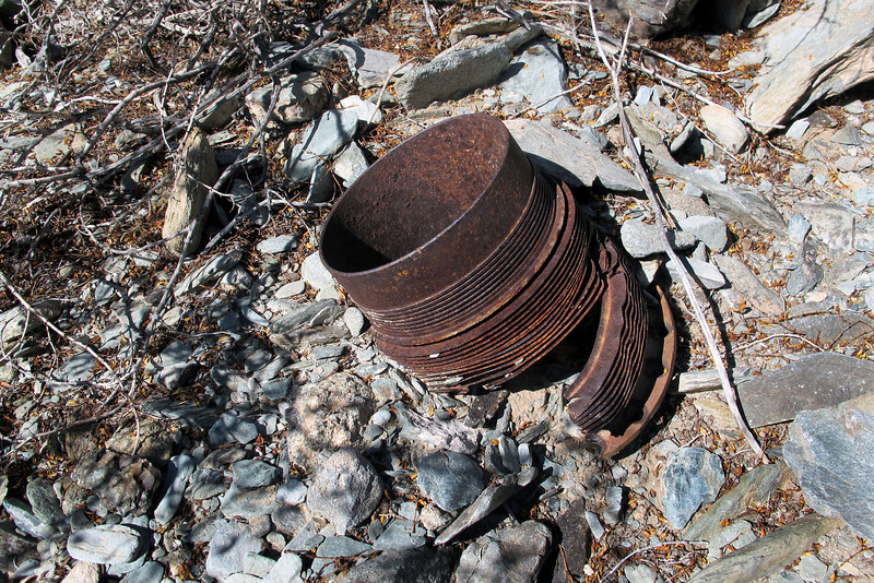 Another cylinder, found six of these scattered in canyon.