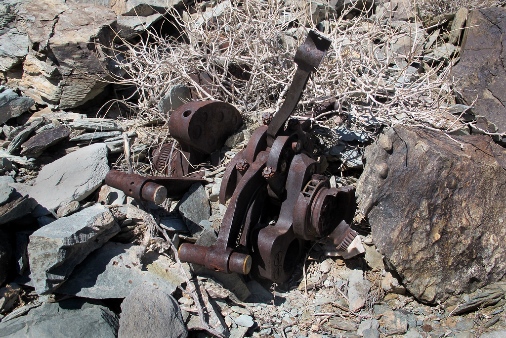 A third crankshaft, the piston wrist pins can be seen on two of the connecting rods.