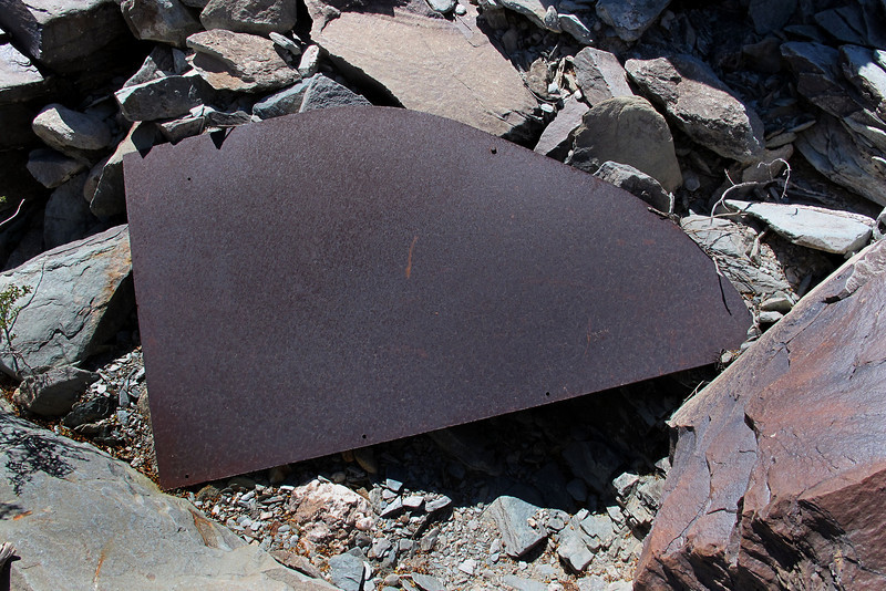 An armor plate, it's about four feet across.