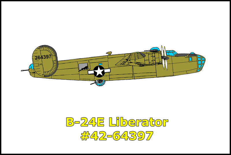 On October 15, 1943 at 7:26pm, the B-24E #42-64397 took off from the Blythe Army Air Base, California on a routine navigation training flight. At 7:45pm, from an altitude of 6,000 feet and west of the air field, the pilot called the tower to report that they were having engine trouble and ask for permission to land west to east on runway 8. He was granted permission by the tower, which stopped all other traffic. Immediately after this, the ship acknowledged receipt of the permission, which was followed by voiced transmissions which the tower could not read. At 7:48pm the tower saw the flame as the bomber crashed into the mountains. The opinion of the crash investigators was that after being cleared to land and approaching the field, the pilot found that he was at to high of an altitude to land and decided to let down in a 360 degree turn. At this time, the moon had not come up and there was no horizon. Against local flying regulations, the pilot made a left hand turn and contacted the mountain. The bomber exploded and burned on impact, killing all ten crew members on board. The flight crew members were;<br /> <br /> 2Lt. Merrill Bernard Jr., pilot<br /> F/O Dean M. Mulberger, co-pilot<br /> 2Lt. Arthur R. Osburn, navigator<br /> 2Lt. William G. Grace, bombardier<br /> Sgt. Willis Thurmond Jr., engineer<br /> Sgt. Louis J. Buess, radio operator<br /> Sgt. Paul S. College, assistant engineer<br /> Sgt. Ormond E. May, assistant engineer<br /> Sgt. Howard E. Hazelwood, gunner<br /> Sgt. Paul C. Grimm, gunner