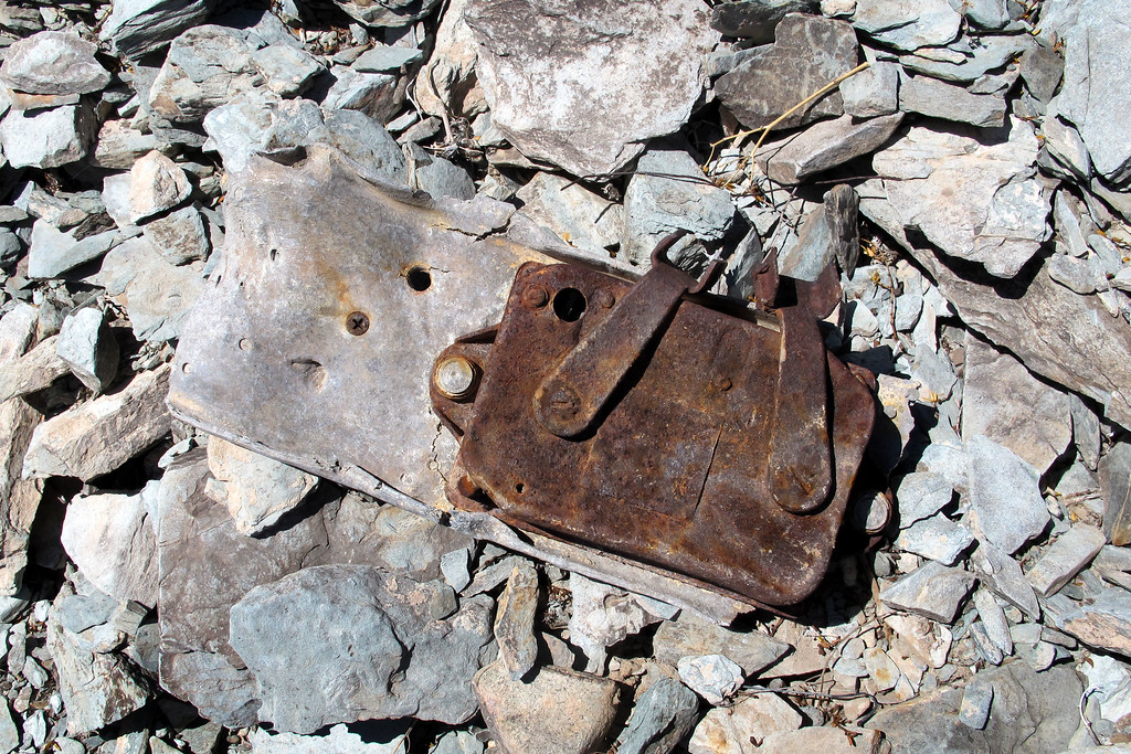 Same piece turned over shows the bomb release mechanism attached to it.