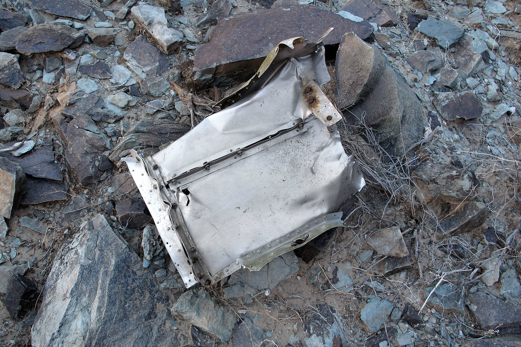 One of the last pieces I came upon was this two foot square piece of aluminum.
