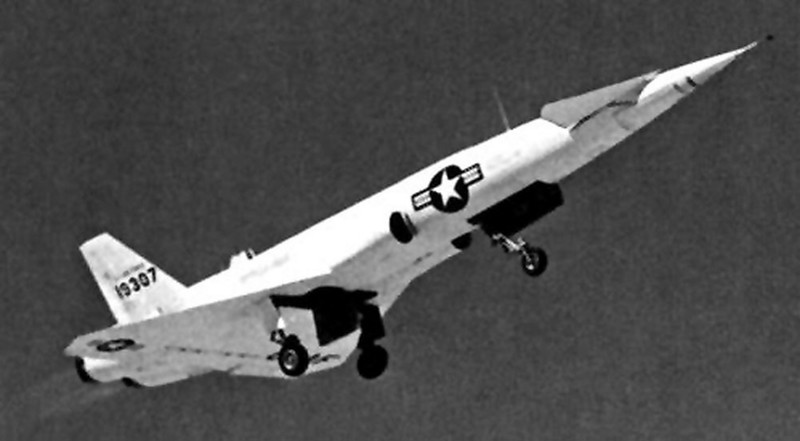 Number 19307 in flight. I think the one at the crash site was #19311 and crashed on 2/22/55 during a flight from Edwards AFB.
