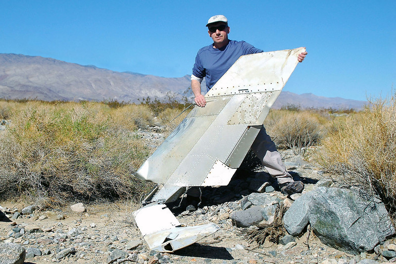Me with the fin and stab. Was surprised to see how small the rudder was. They must turn the Firebees using mosty aileron and elevator like a model airplane.