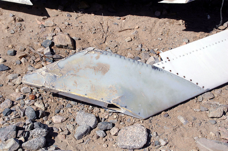Close up of the fiberglass tip on the stab.