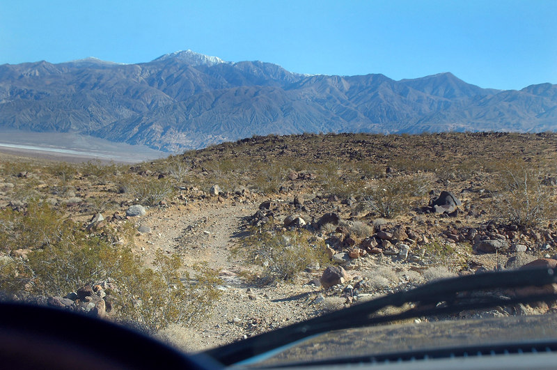 From the Trona Wildrose Road I drove in on a 4X4 road to the place I started hiking from.