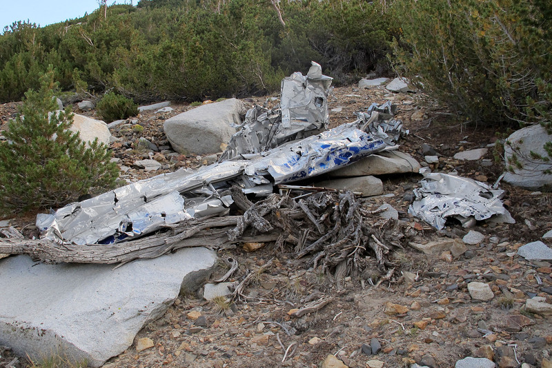 Finally came upon a large piece of wreckage, it's one of the wings.