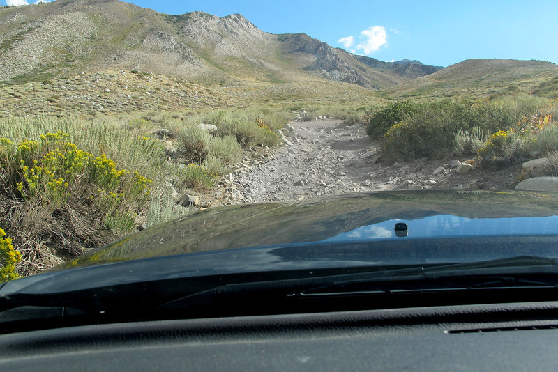 Driving up a 4X4 road to the place that I will spend the night and start the hike from. Was lucky to find this road that will take me up to over 9,000 feet, it will make reaching the area I believed the crash site is located much easier.