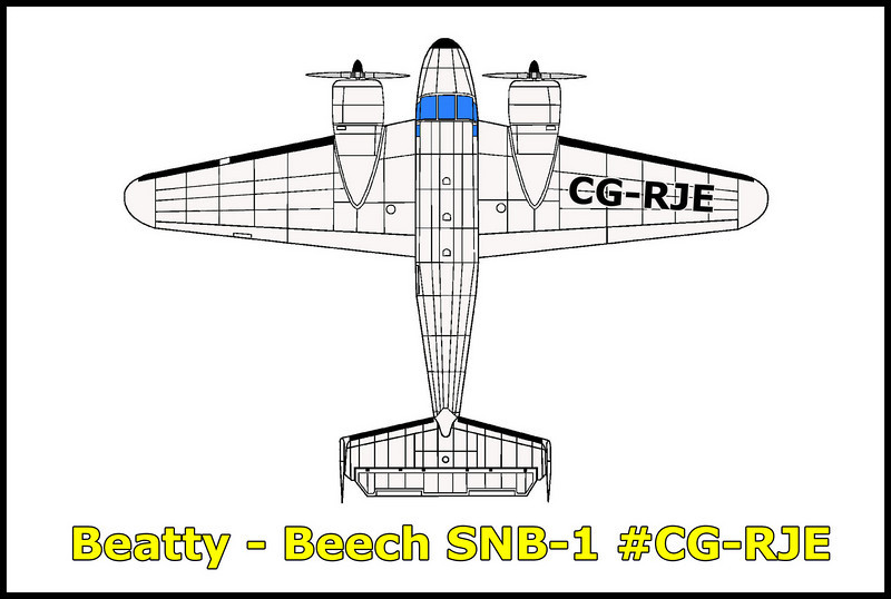 On 3/18/81 while flying for the North Cariboo Flying Service, the Beech SNB-1 #CG-RJE (BuNo39922) crashed during final approach to the Beatty Airport killing the two crew members. The aircraft was on a flight from at Yuma, Arizona to Spokane, Washington with an enroute stop at Beatty, Nevada. Factors that might have contributed to the accident were a downwind landing in turbulence at a high density altitude. The aircraft had a cargo of a spare engine loaded behind two stacked tires.