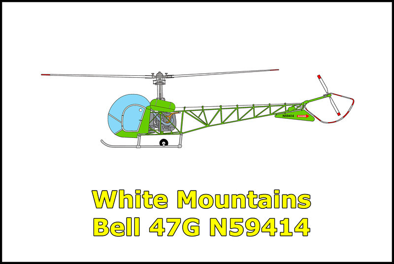 On 6/22/89 at approximately 9:30am the Bell 47G N59414 was on a flight over the northern end of the White Mountains. While the pilot was attempting to hover out of ground effect over steep sloping mountainous terrain in high density altitude weather conditions, the rotor RPM began to decrease. He attempted to takeoff, resulting in farther decay of rotor RPM and impacted the terrain at 8000 feet MSL. The helicopter rolled over and was destroyed by the post crash fire with the pilot and passenger sustaining only minor injuries in the accident.