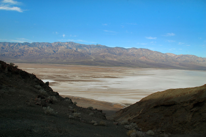 Looking west across the valley to the Panamint Mountains.