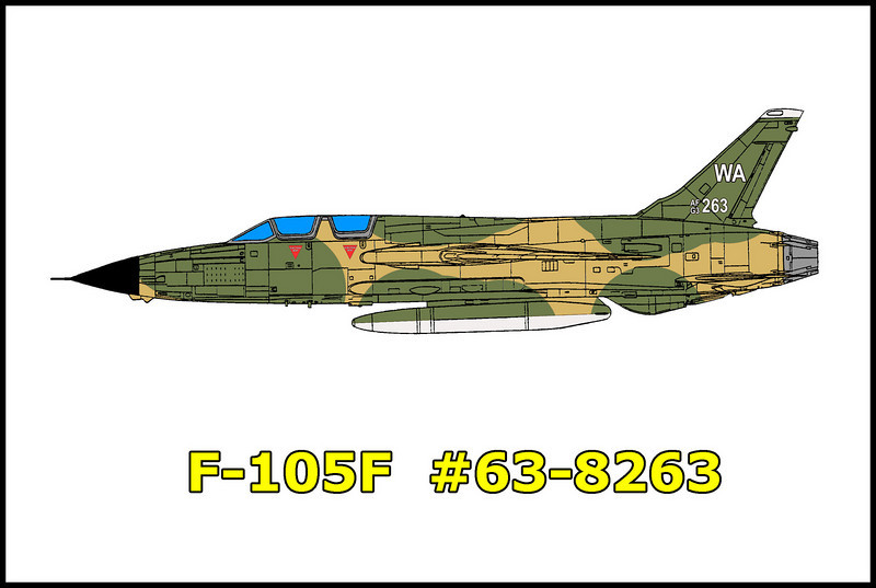 "This was copied from the crash report:<br />  On 9/1/78, F-105F serial number 63-8263 was scheduled to fly a BFM sortie as lead of a two aircraft formation. Crew briefing, engine start, taxi and ""end of runway"" were normal. Takeoff was at 3:43pm PDT. Flight to George AFB working area was normal.  During the first BFM engagement the centerline tank departed the aircraft. The aircraft went out of control and both crew members ejected. The aircraft crashed and was destroyed. Both crew members, Captain Eddie M. Graham and Captain Frank S. Hartman received major injuries.<br /> <br /> After spotting some of the wreckage from above last weekend, Tom and I returned to try and reach the crash site from below."
