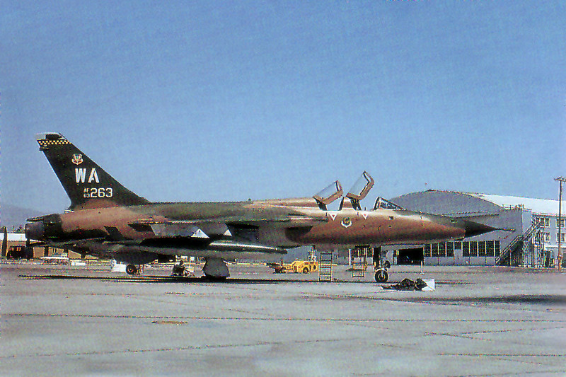 Photo of #63-8263 at Nellis AFB in May 1975.