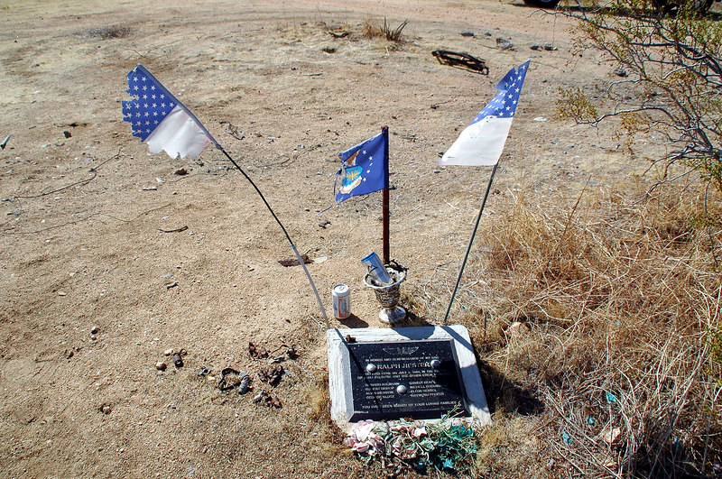 This memorial was placed here by the son of one of the crew members that died in the accident.