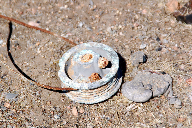 This pulley still had a length of control cable wrapped around it.
