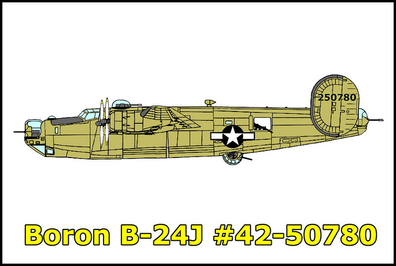 On 7/2/44, B-24J #42-50780 crashed  north of Boron, killing the crew of nine. The bomber had taken off from Muroc Army Air Base on a bombing mission. After successfully completing the mission, the B-24 left the bombing range and while descending through the 10,000 foot level, went out of control, entered a steep spin and began coming apart in the air. The crew was unable to escape. Investigators could not determine the cause of the accident.
