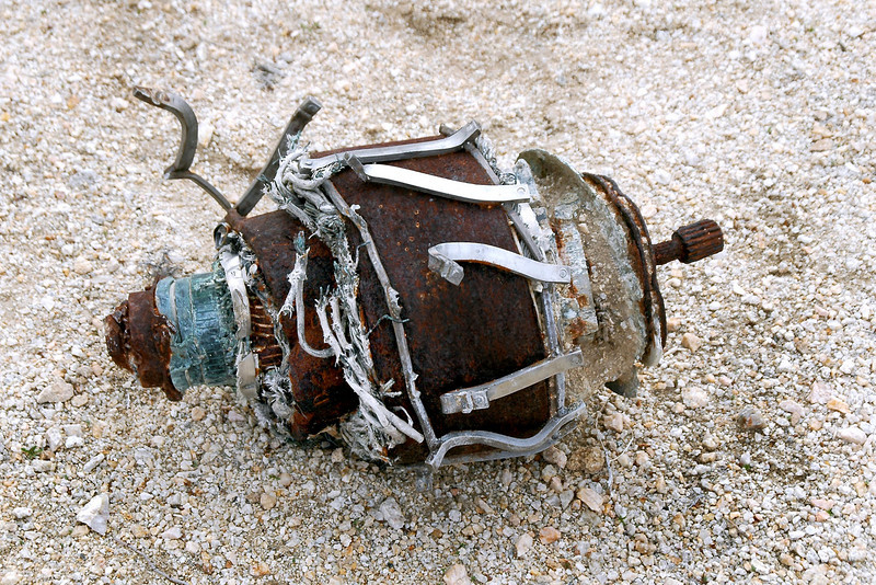 This large armature must be from the generator. The crash report had a drawing showing a generator in the crater. Found it near the crater.