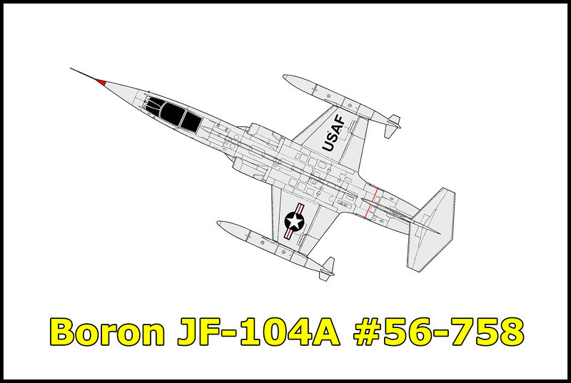 On 9/22/66 the Lockheed Starfighter JF-104A #56-758 USAF crashed near the of town Boron, California. Capt. Claude H. Segrest was on a test flight out of Edwards AFB when there was a uncommanded pitch upward causing lost of control of the aircraft. He was able to eject  from 8,000 feet and landed safely 900 feet east of the crash site. A small impact crater and many small pieces scattered a hundred yards to the south of the crater remain at the site.