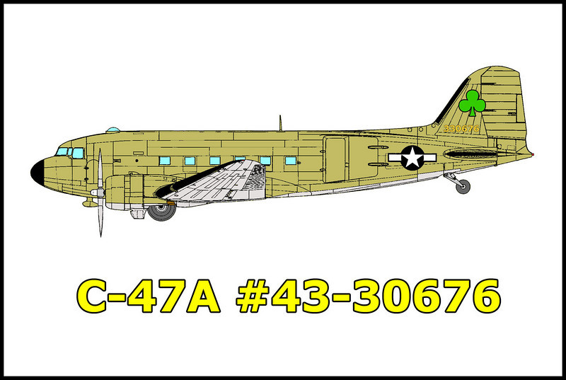 On 3/16/45 while on a flight from March Field, to Minter Field, California, the C-47A #43-30676 crashed in IFR conditions while returning to home base after completing a freight run. None of the four man crew survived the crash into the Sierra mountain slope.