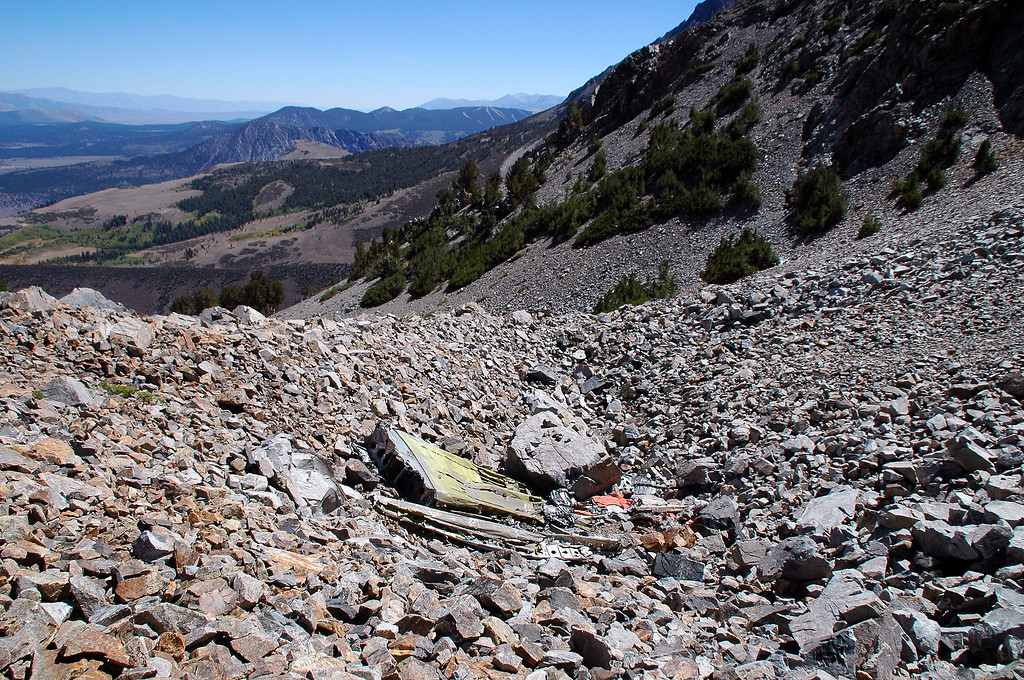 View of the wreckage as we hike on.