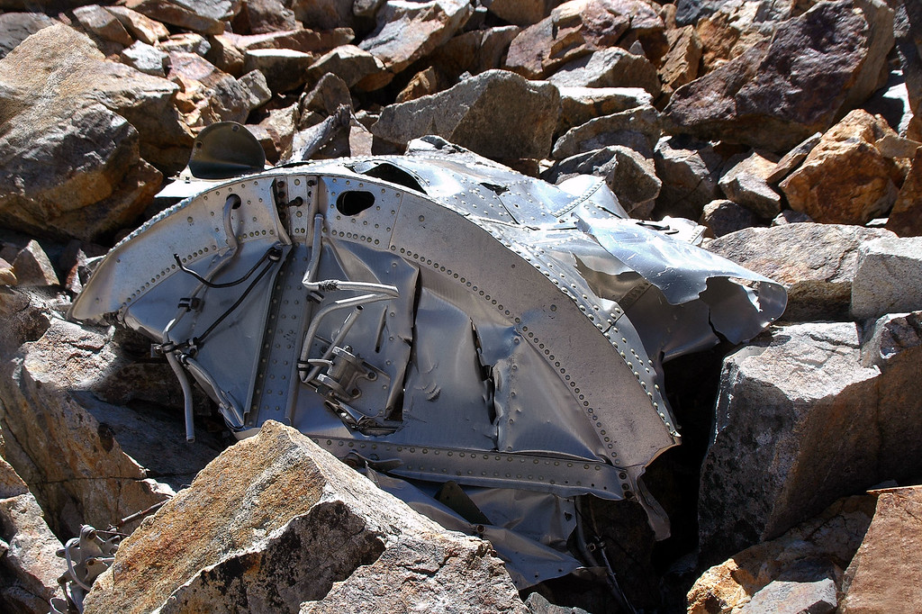 A piece of one of the engine nacelles.