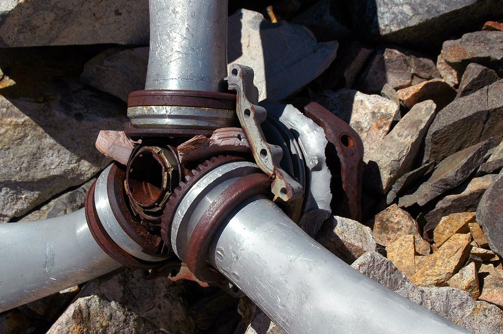 Close up of the prop hub.