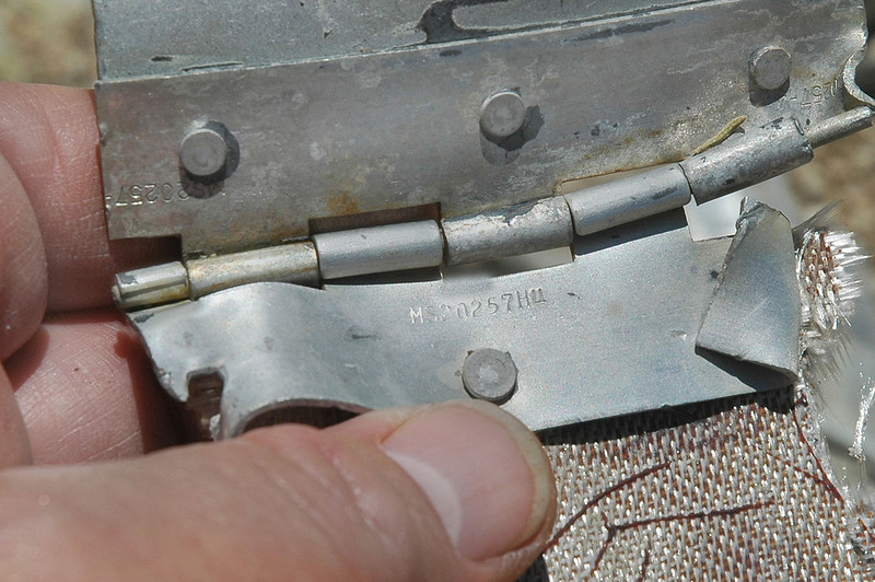 Same piece, the hinge had a number on it, MS20257H4. This MS number is from the hinge martial which was used on many different aircraft.