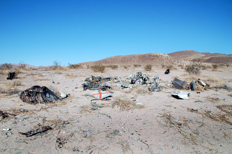 Another view of the crash site looking to the northwest.