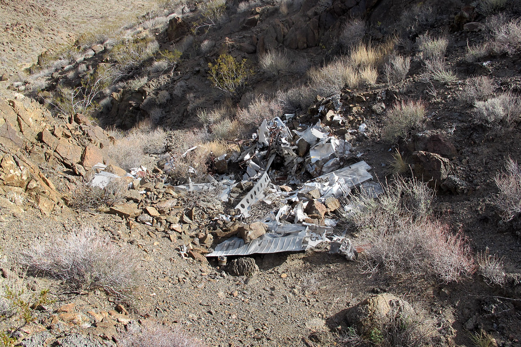 Looking down on the crash site. This was my first close view.