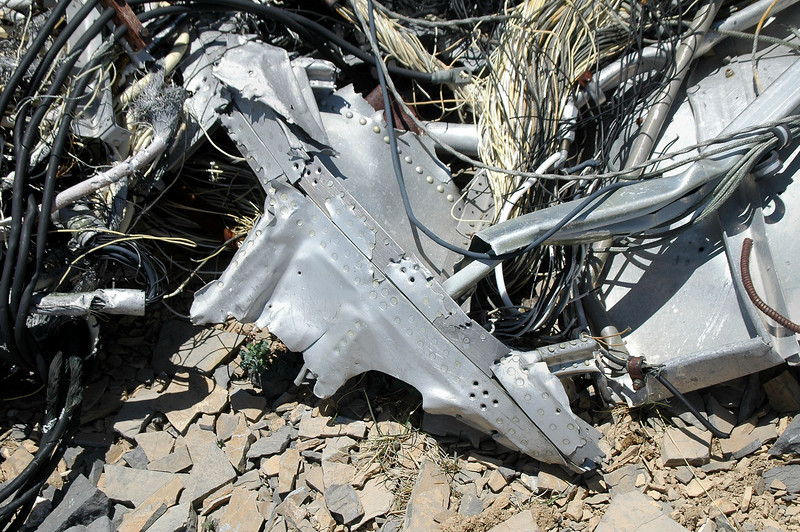 Piece of the fuselage skin.