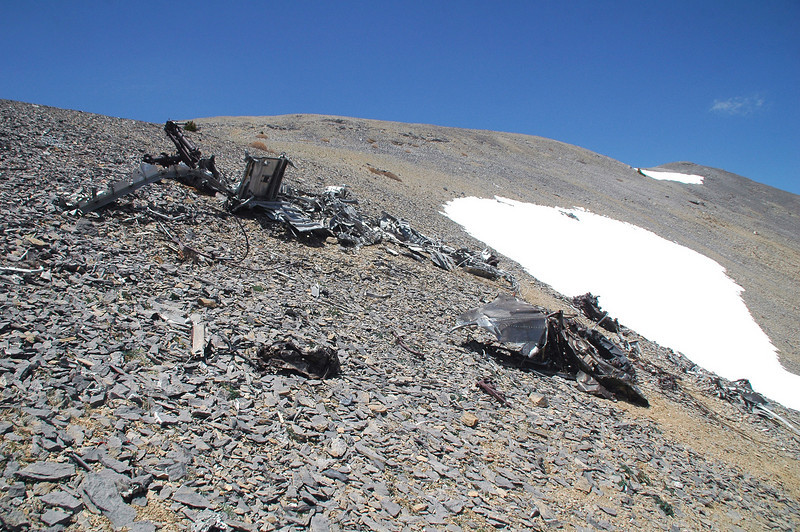 Approaching the main wreckage area.