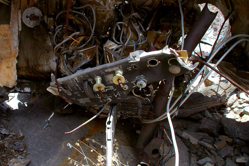 Inside I found a piece of the instrument panel.