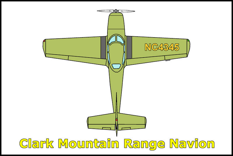 On March 2, 1951 a married couple was killed when their rented Navion NC4345 crashed in a snow storm on a flight from Las Vegas, Nevada to Santa Monica, California. The wreckage was discovered on March 3 southwest of Las Vegas in the snow covered Clark Mountain Range by Lt. Roscoe Anderson, a pilot from Fourth Air Force rescue squadron out of March AFB.