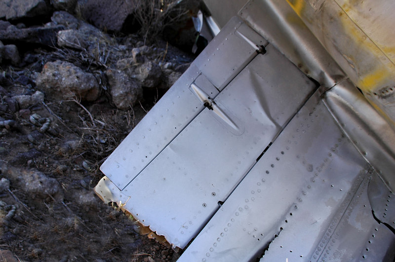 Closer view of the stab showing the elevator and it's trim tabs.