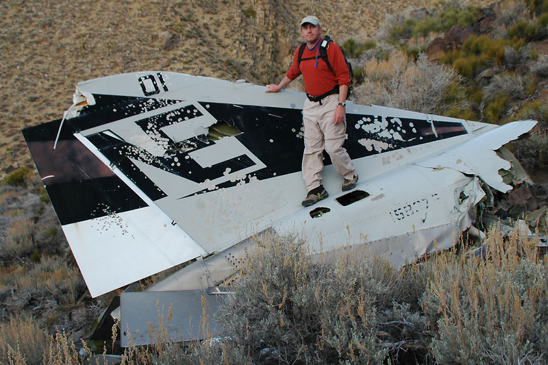 It's the tail section from one of the F-4J fighters. It's getting dark, I'll be back tomorrow.