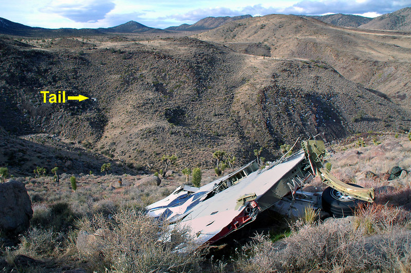 This shot shows where the tail is located across the canyon.
