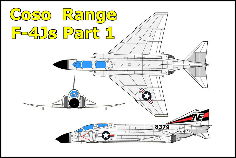 On 6/26/72 two McDonnell Douglas F-4Js #158379 and #158364 USN collided over the Coso Range while on training flight. Both crews ejected safely. #158364 crashed and burned about one mile southeast of the tail and wing of #158379.