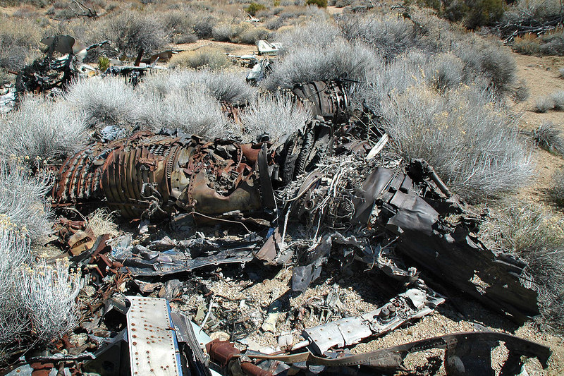 What's left of one of the two J79-GE-10 engines which powered the F-4.