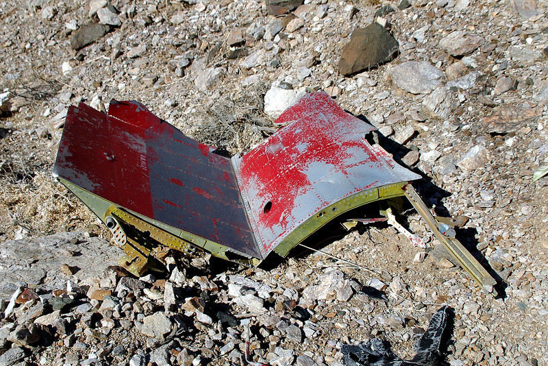 Looks like a piece of the fuselage and wing fairing.