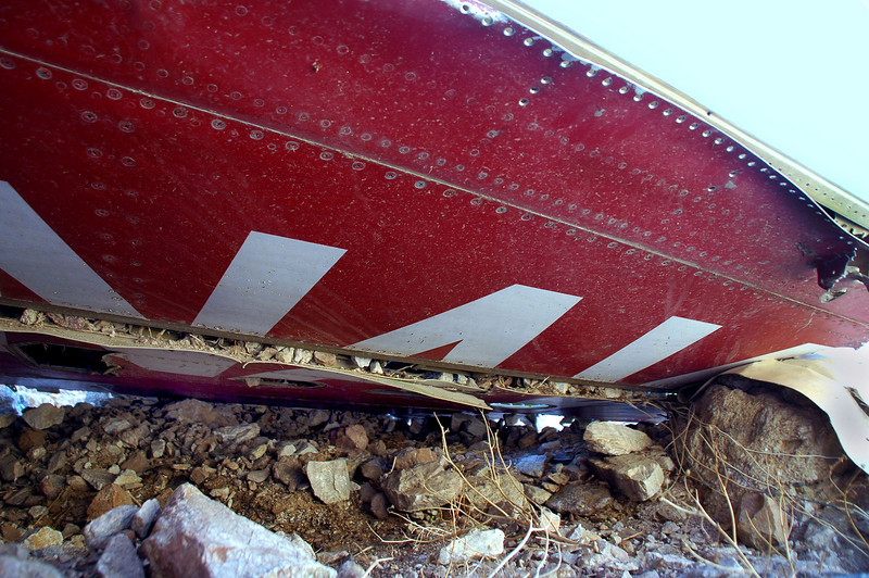 The underside still had the red paint and the NAVY lettering.