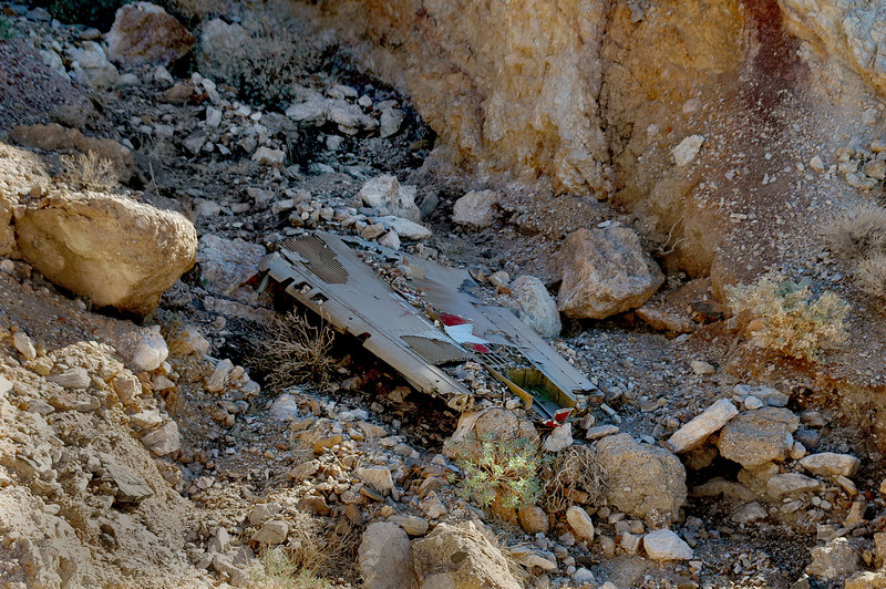 Zoomed in on the wing section. This is about 300 hundred yards from the site of the other wreckage.